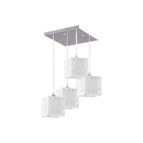 Lampa wisząca zwis anika 4x60w e27 chrom/biały 8162428 marki Spot light