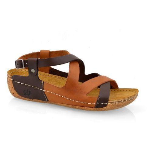 Sandały Lemar 225 bf czek+brąz, 1 rozmiar