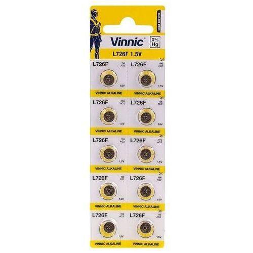 10 x bateria alkaliczna mini g2 / ag2 / l726 / sr726 / sr59 / 396 / 556 / 29 / rw411 marki Vinnic