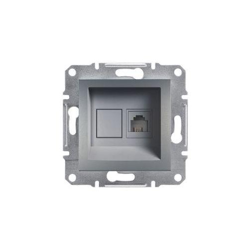 Asfora gniazdo telefoniczne schneider podtynkowe rj11 stalowe eph4100162 marki Schneider electric
