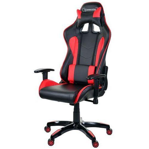 Fotel biurowy GIOSEDIO czarno-czerwony,model GSA041 (5902751541694)