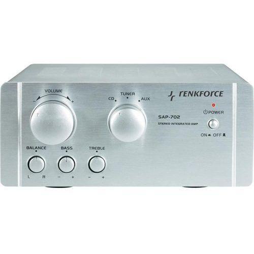 Wzmacniacz Hi-Fi Renkforce 29266c SAP-702, 2 x 20 W, aluminiowy