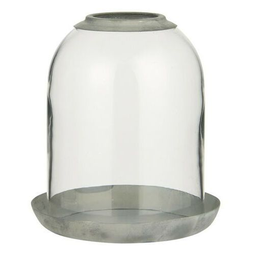 Ib Laursen - Pokrywa szklana przezroczysta z otworem z metalową podstawką