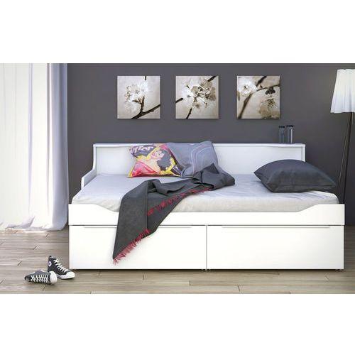 Combee łóżko młodzieżowe białe - biały marki Tvilum