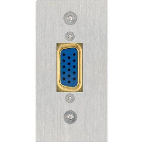 Panel z gniazdem VGA Inakustik 00980125016 980125016, [1x złącze żeńskie VGA - 1x do lutowania], Wykonanie złącza: proste