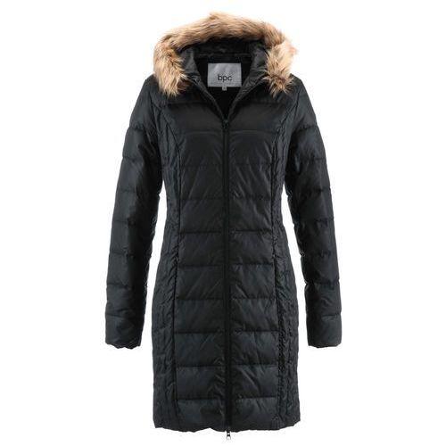 Lekki płaszcz puchowy pikowany bonprix czarny