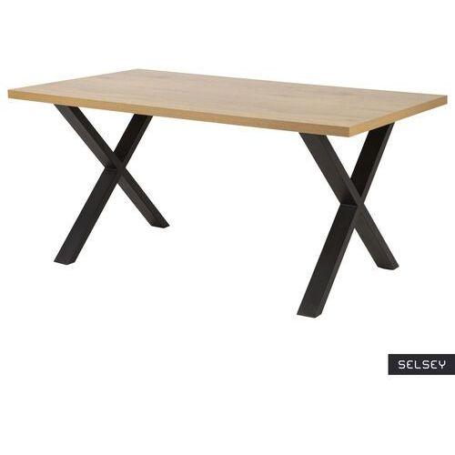SELSEY Stół Thadear 160x90 cm na skrzyżowanej podstawie (5903025350004)