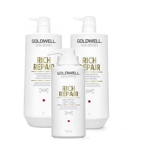 Goldwell rich repair zestaw regenerujący | szampon 1000ml, odżywka 1000ml, maska 500ml