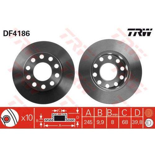 TARCZA HAM TRW DF4186 AUDI A4 1.6 00-04, 1.8T 02-04, 1.9TDI 01-04, 2.0 00-04, TRW DF4186