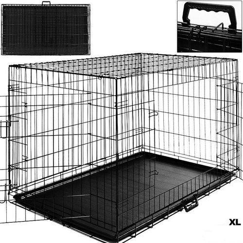 DUŻA KLATKA METALOWA KOJEC DLA PSÓW PSA 108x70x77 - XL