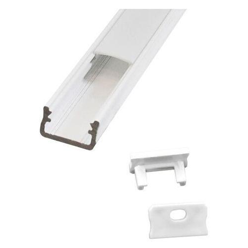 Zestaw profil natynkowy typ A Polux 2 m z kloszem i zaślepkami biały