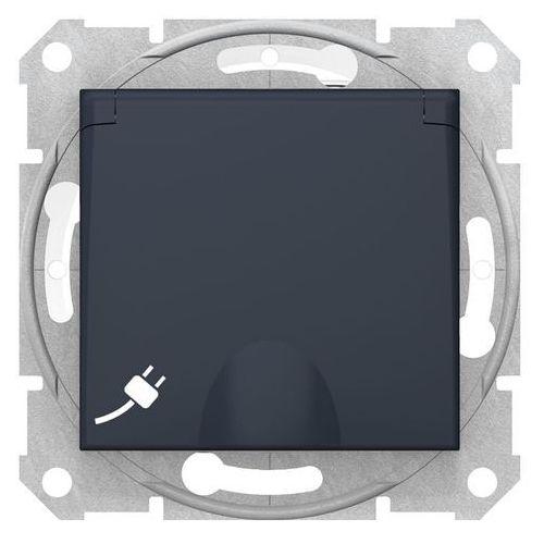 Schneider Gniazdo bryzgoszczelne sedna sdn2800870 z klapką, zaciski bezśrubowe grafit (3606480995675)