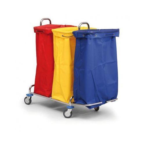 B2b partner Wózek na bieliznę lub odpady segregowane, 3 worki