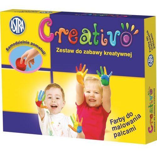 Astra papiernicze Farby do malowania palcami astra creativo 4 kolory 50 ml (5900263140053)