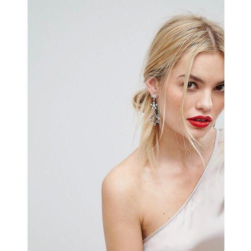 Orelia Statement Multi Star Drop Earrings - Gold