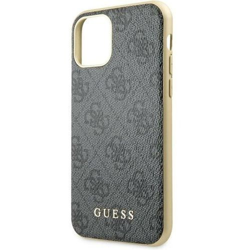 Guess guhcn61g4gg iphone 11 szary/grey hard case 4g collection - szary
