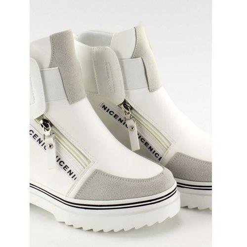 Stylowe buty na wysokiej podeszwie 29273-5 White