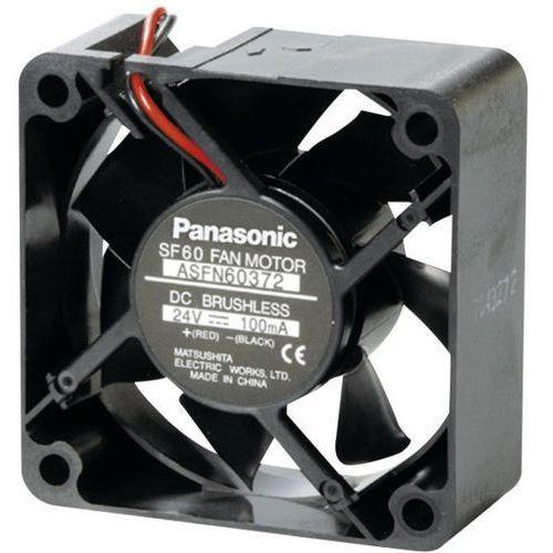 Wentylator osiowy Panasonic ASFN60372, 24 V/DC, 36.6 m³/h, (DxSxW) 60 x 60 x 25 mm