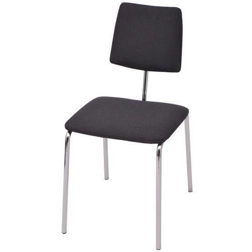 Krzesło do jadalni z materiałowym, czarnym wykończeniem