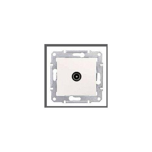 Schneider electric Sedna gniazdo antenowe tv (1db) końcowe kremowe sdn3201623 schneider (8690495042832)