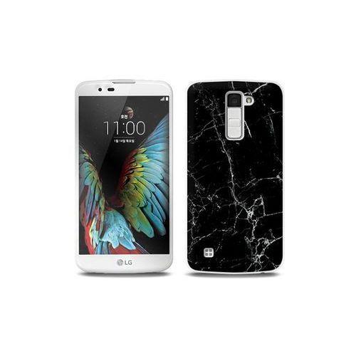 LG K10 - etui na telefon Full Body Slim Fantastic - czarny marmur, ETLG287FBSFFC032000
