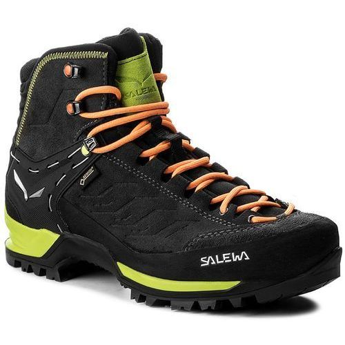 Trekkingi SALEWA - Mtn Trainer Mid Gtx GORE-TEX 63458-0974 Black/Sulphur Spring, kolor zielony