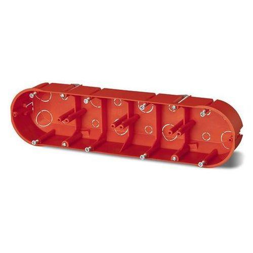 Elektro-plast nasielsk Puszka podtynkowa 60 poczwórna do karton-gipsu 0234-00 pomarańczowa elektro-plast