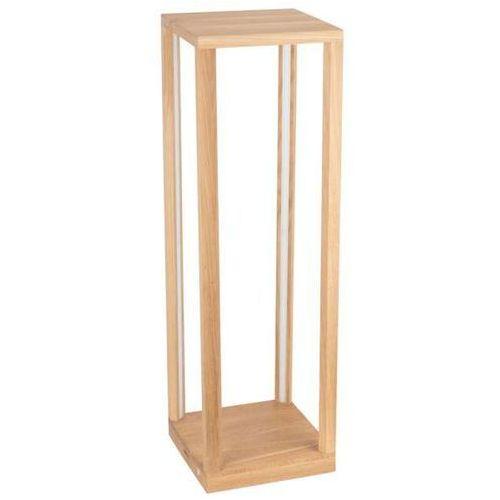 Ekologiczna LAMPA podłogowa TAVOLI 8873974 Spotlight drewniana OPRAWA stolik LED 24W 3000K stojący dąb olejowany, 8873974
