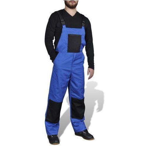 Vidaxl  męskie ogrodniczki robocze, rozmiar xl, niebieskie