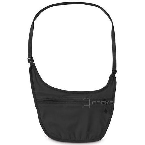 coversafe s80 dyskretna saszetka podróżna na ramię / etui podróżne - black marki Pacsafe