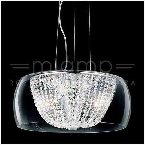 Orlicki design Kryształowa lampa wisząca lexus 500s claro okrągła oprawa regulowany zwis crystal przezroczysty