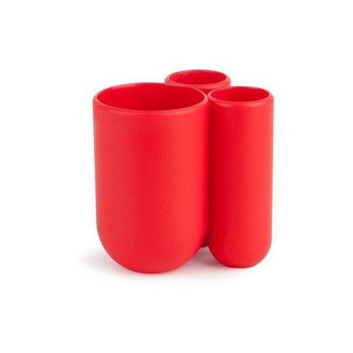 Umbra - stojak na szczoteczki do zębów touch - czerwony - czerwony