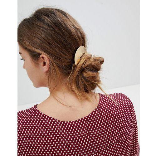 Orelia brushed semi circle barrette hair clip - gold