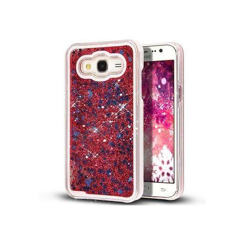 Etui Pływające Gwiazdki Liquid Star Case Plecki do Samsung Galaxy J5 - Czerwony