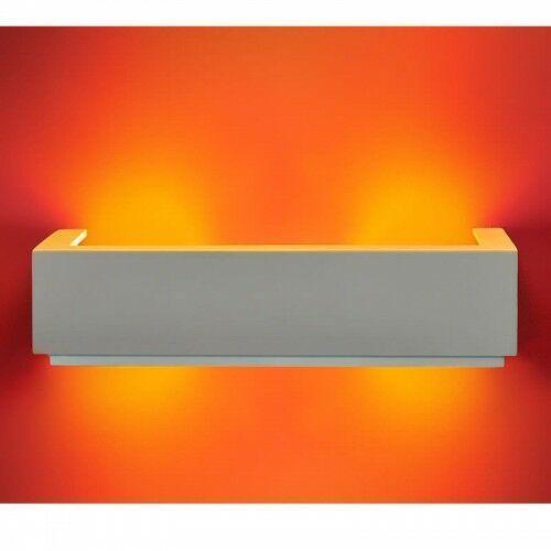 Polux Kinkiet gipsowy szer:36cm 2x40w e14 206749 cegiełka szkło pozioma (5903137206749)