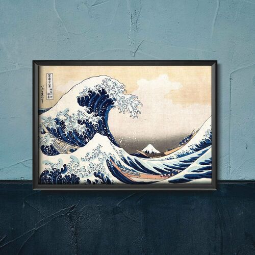Plakat w stylu vintage plakat w stylu vintage blue fuji katsushika hokusai marki Vintageposteria.pl