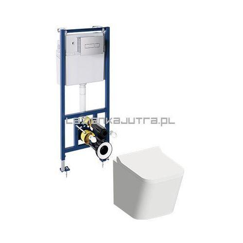 OMNIRES Kompletny zestaw podtynkowy WC z miską FONTANA bezkołnierzową, FONTANASETBPCR