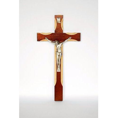 Produkt polski Krzyż drewniany wiszący, brązowy