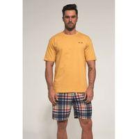Cornette Bawełniana piżama męska 326/91 alex żółta