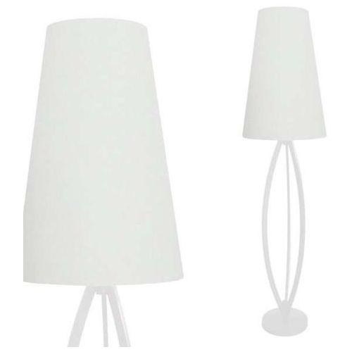 Stojąca LAMPA podłogowa LORITA TS-110314F-WH Zumaline abażurowa OPRAWA klasyczna biała