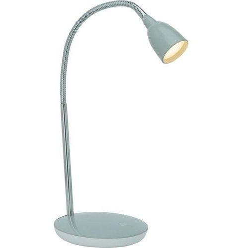 Brilliant Lampa stołowa antony g92935/11, led wbudowany na stałe x 1, 230 v, (øxw) 16 cmx40 cm, tytanowy (4004353175480)
