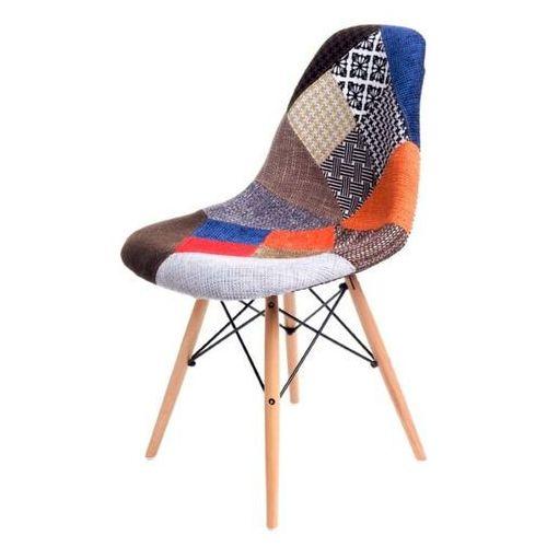 Krzesło p016w patch work, drewniane nogi marki D2.design