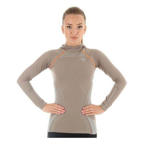 Brubeck ls11360 - damska bluza z kapturem (capuccino)