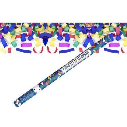 Tuba strzelająca - konfetti i serpentyny metaliczne - 80 cm - 1 szt. (5901157425935)