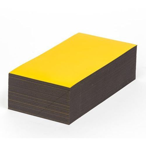 Magnetyczna tablica magazynowa, żółte, wys. x szer. 80x150 mm, opak. 100 szt. Za
