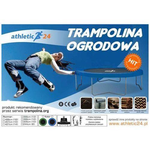 OKAZJA - Athletic24 244 cm - trampolina ogrodowa z siatką zabezpieczającą + drabinka gratis!