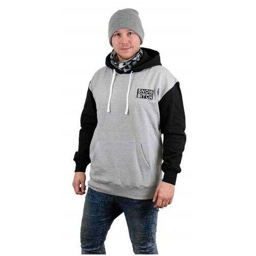 bluza SNOWBITCH - O.G. Patch Hoody Gray Black Black-Gray (BLACK-GRAY ) rozmiar: XL