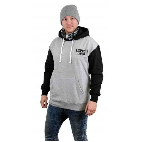 Snowbitch Bluza - o.g. patch hoody gray black black-gray (black-gray ) rozmiar: m