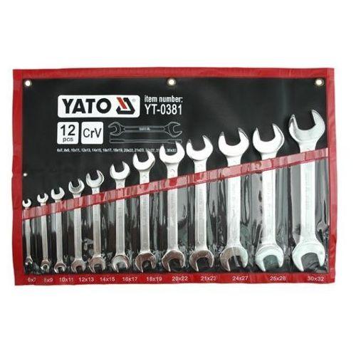 Yato klucze płaskie satynowane 12 elem. 6-32mm. etui 0381 (5906083903816)
