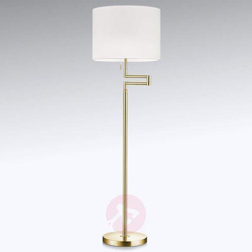 Ściemniana lampa stojąca LED Lilian, klosz Chintz